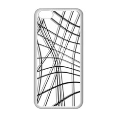 White and black warped lines Apple iPhone 5C Seamless Case (White)