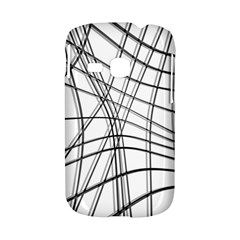 White and black warped lines Samsung Galaxy S6310 Hardshell Case