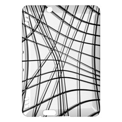 White and black warped lines Kindle Fire HDX Hardshell Case