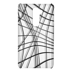 White and black warped lines LG G2