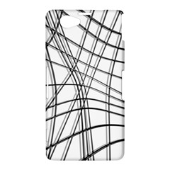 White and black warped lines Sony Xperia Z1 Compact