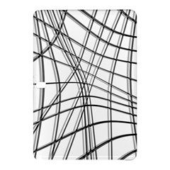 White and black warped lines Samsung Galaxy Tab Pro 12.2 Hardshell Case