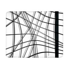 White and black warped lines Samsung Galaxy Tab Pro 8.4  Flip Case