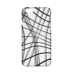White and black warped lines Apple iPhone 6/6S Hardshell Case