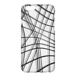 White and black warped lines Apple iPhone 6 Plus/6S Plus Hardshell Case