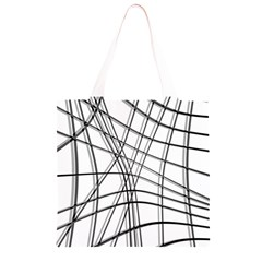 White and black warped lines Grocery Light Tote Bag