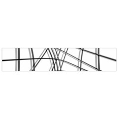 White and black warped lines Flano Scarf (Small)