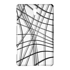 White and black warped lines Samsung Galaxy Tab S (8.4 ) Hardshell Case