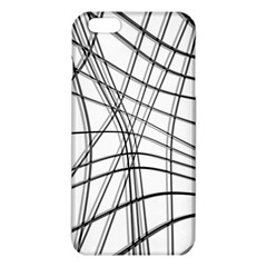White and black warped lines iPhone 6 Plus/6S Plus TPU Case