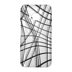 White and black warped lines HTC One M9 Hardshell Case