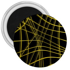 Yellow abstract warped lines 3  Magnets
