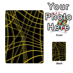 Yellow Abstract Warped Lines Multi Purpose Cards (rectangle)