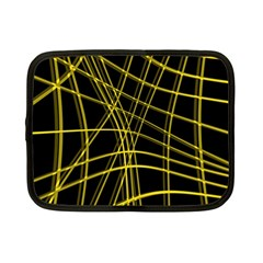 Yellow abstract warped lines Netbook Case (Small)