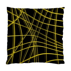 Yellow abstract warped lines Standard Cushion Case (One Side)