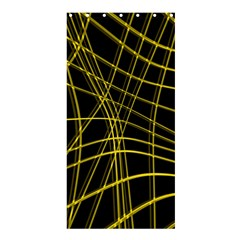 Yellow abstract warped lines Shower Curtain 36  x 72  (Stall)
