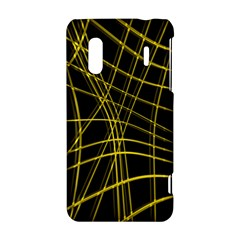 Yellow abstract warped lines HTC Evo Design 4G/ Hero S Hardshell Case
