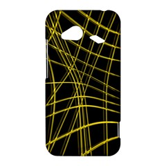 Yellow abstract warped lines HTC Droid Incredible 4G LTE Hardshell Case