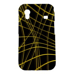 Yellow abstract warped lines Samsung Galaxy Ace S5830 Hardshell Case