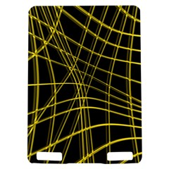 Yellow abstract warped lines Kindle Touch 3G