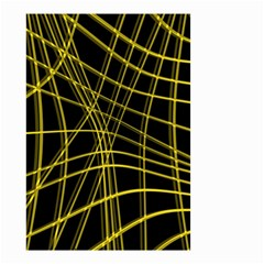 Yellow abstract warped lines Small Garden Flag (Two Sides)