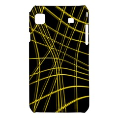 Yellow abstract warped lines Samsung Galaxy S i9008 Hardshell Case