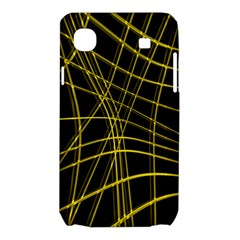 Yellow abstract warped lines Samsung Galaxy SL i9003 Hardshell Case