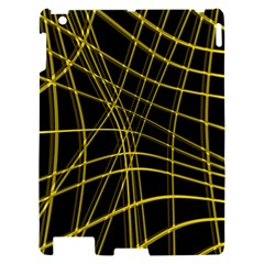 Yellow abstract warped lines Apple iPad 2 Hardshell Case