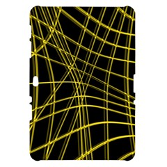 Yellow abstract warped lines Samsung Galaxy Tab 10.1  P7500 Hardshell Case