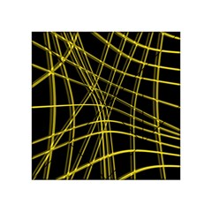 Yellow abstract warped lines Acrylic Tangram Puzzle (4  x 4 )