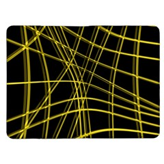 Yellow abstract warped lines Kindle Fire (1st Gen) Flip Case