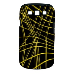 Yellow abstract warped lines Samsung Galaxy S III Classic Hardshell Case (PC+Silicone)