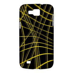 Yellow abstract warped lines Samsung Galaxy Premier I9260 Hardshell Case