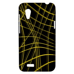 Yellow abstract warped lines HTC Desire VT (T328T) Hardshell Case