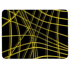 Yellow abstract warped lines Samsung Galaxy Tab 7  P1000 Flip Case