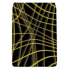 Yellow abstract warped lines Flap Covers (S)