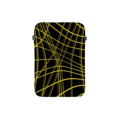 Yellow abstract warped lines Apple iPad Mini Protective Soft Cases