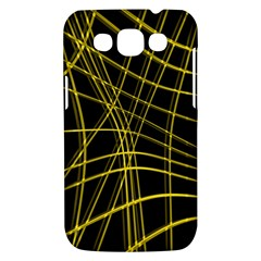 Yellow abstract warped lines Samsung Galaxy Win I8550 Hardshell Case