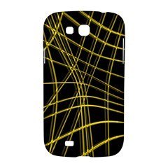 Yellow abstract warped lines Samsung Galaxy Grand GT-I9128 Hardshell Case