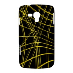 Yellow abstract warped lines Samsung Galaxy Duos I8262 Hardshell Case