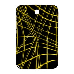 Yellow abstract warped lines Samsung Galaxy Note 8.0 N5100 Hardshell Case