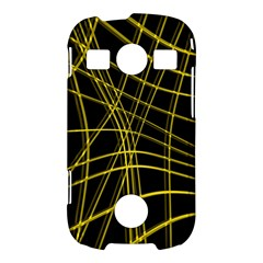 Yellow abstract warped lines Samsung Galaxy S7710 Xcover 2 Hardshell Case