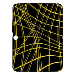 Yellow abstract warped lines Samsung Galaxy Tab 3 (10.1 ) P5200 Hardshell Case
