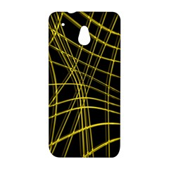 Yellow abstract warped lines HTC One Mini (601e) M4 Hardshell Case