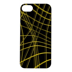 Yellow abstract warped lines Apple iPhone 5S/ SE Hardshell Case