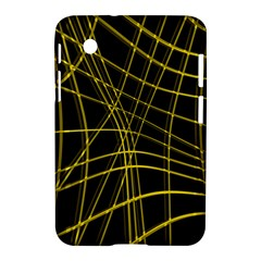 Yellow abstract warped lines Samsung Galaxy Tab 2 (7 ) P3100 Hardshell Case