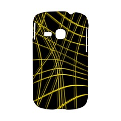 Yellow abstract warped lines Samsung Galaxy S6310 Hardshell Case