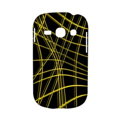 Yellow abstract warped lines Samsung Galaxy S6810 Hardshell Case