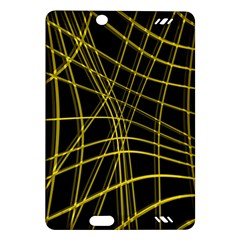 Yellow abstract warped lines Amazon Kindle Fire HD (2013) Hardshell Case