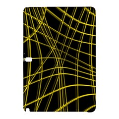 Yellow abstract warped lines Samsung Galaxy Tab Pro 10.1 Hardshell Case