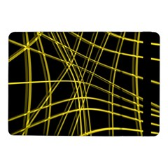 Yellow abstract warped lines Samsung Galaxy Tab Pro 10.1  Flip Case